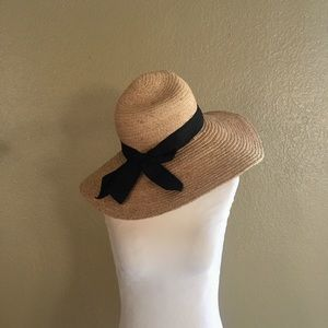 San Diego hat company straw hat with black bow